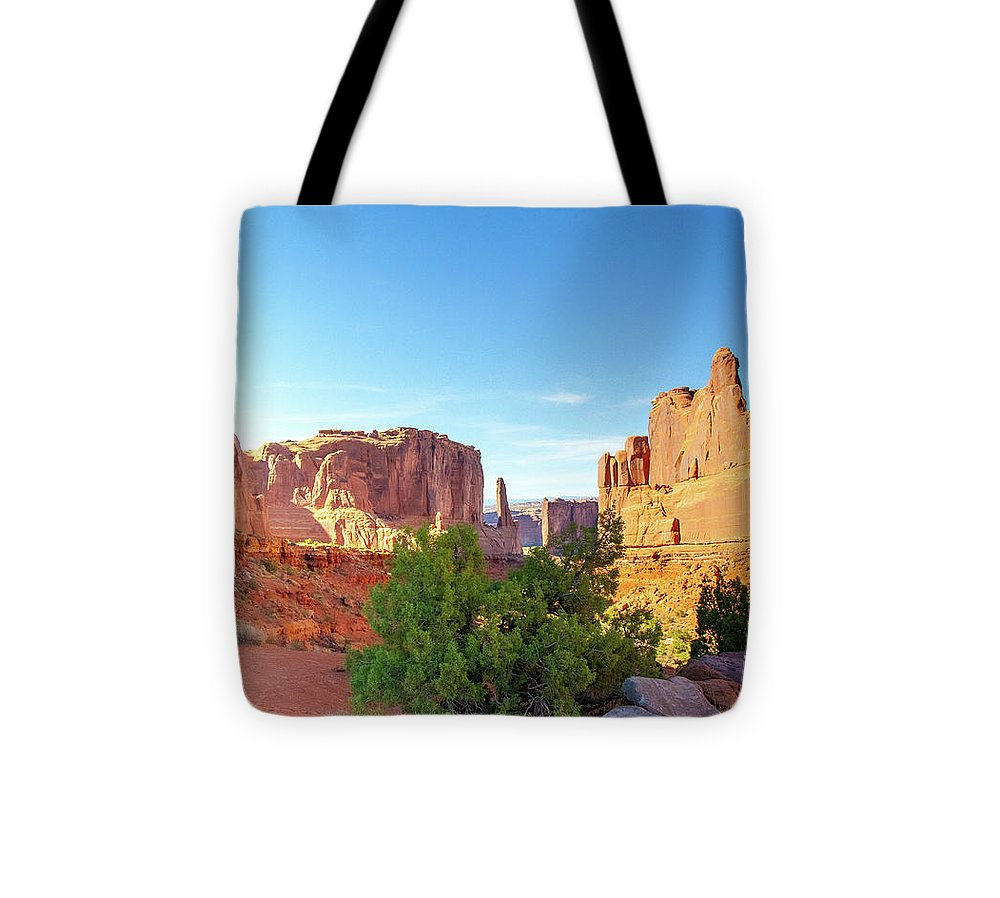 Arches National Park Courthouse Towers - Tote Bag