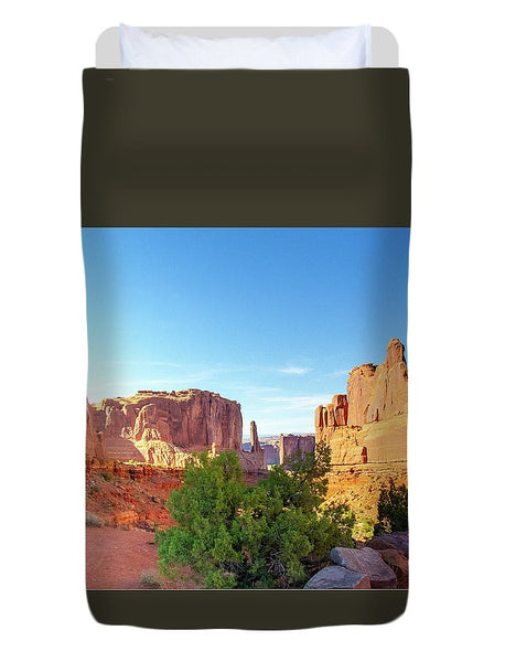 Arches National Park Courthouse Towers - Duvet Cover