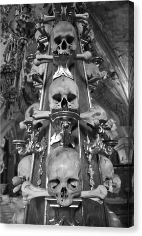 Bone Church Ornaments Kutna Hora Czech Republic - Canvas Print