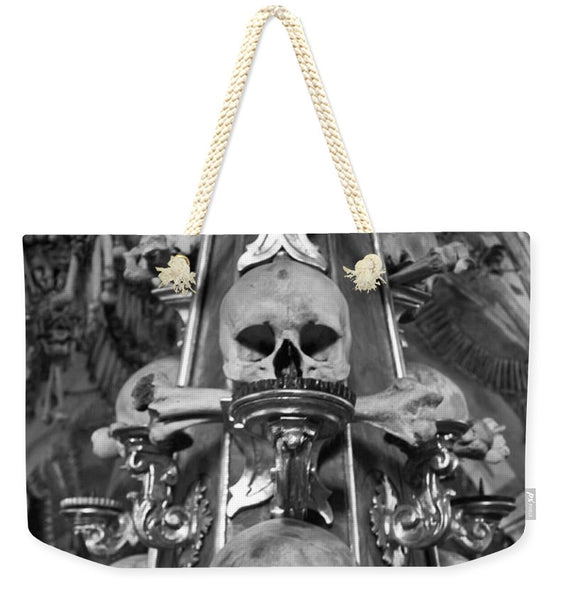 Bone Church Ornaments Kutna Hora Czech Republic - Weekender Tote Bag