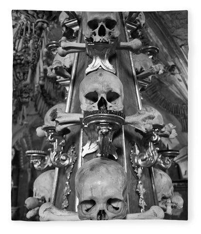 Bone Church Ornaments Kutna Hora Czech Republic - Blanket