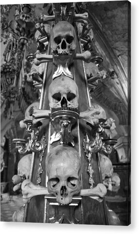 Bone Church Ornaments Kutna Hora Czech Republic - Acrylic Print