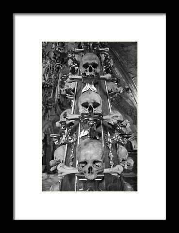 Bone Church Ornaments Kutna Hora Czech Republic - Framed Print