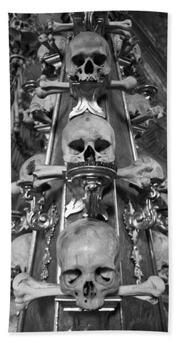 Bone Church Ornaments Kutna Hora Czech Republic - Bath Towel