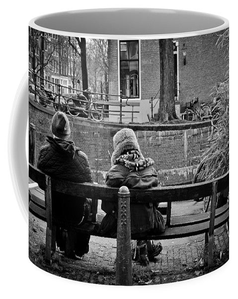 Couple On Bench in Amsterdam - Mug