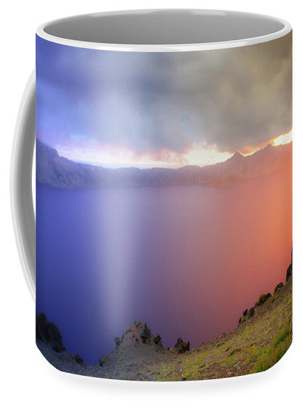 Crater Lake National Park at Sunset after a storm - Mug