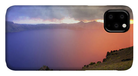 Crater Lake National Park at Sunset - Phone Case