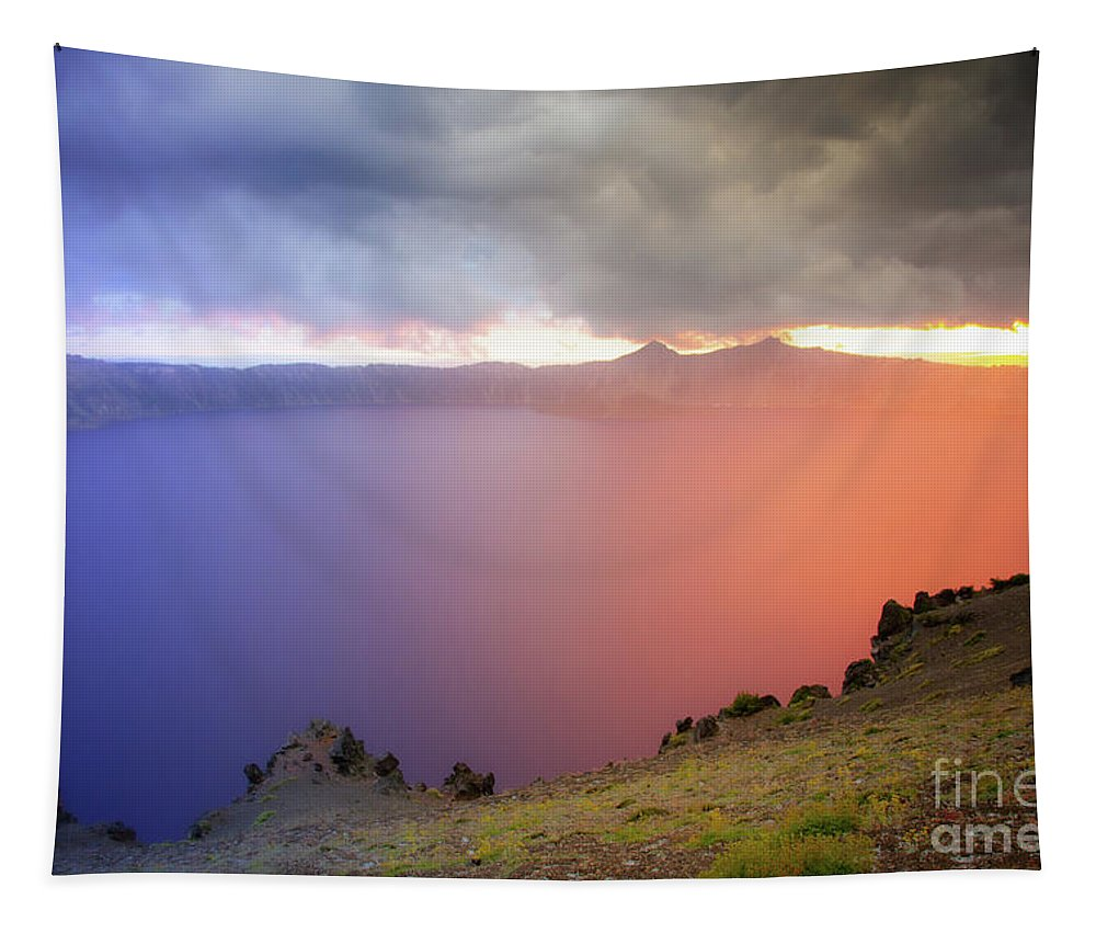 Crater Lake National Park at Sunset - Tapestry