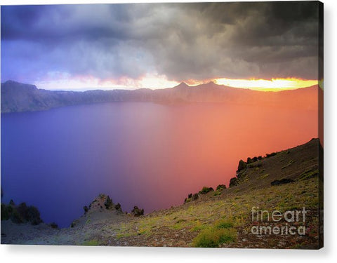Crater Lake National Park at Sunset - Acrylic Print