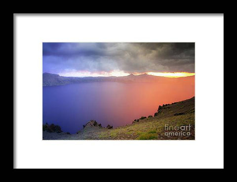 Crater Lake National Park at Sunset - Framed Print