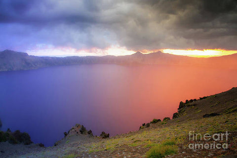 Crater Lake National Park at Sunset - Art Print