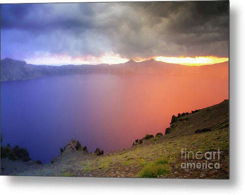Crater Lake National Park at Sunset - Metal Print