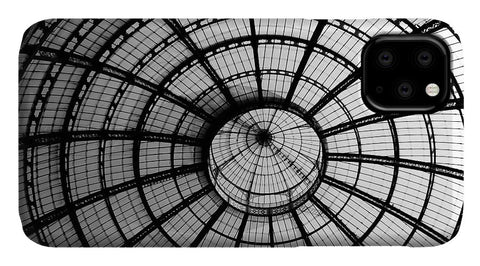ITL-0016-Glass Ceiling At The Milan Gallery Round - Phone Case