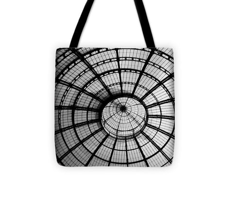 ITL-0016-Glass Ceiling At The Milan Gallery Round - Tote Bag