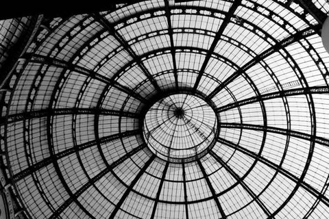 ITL-0016-Glass Ceiling At The Milan Gallery Round - Art Print