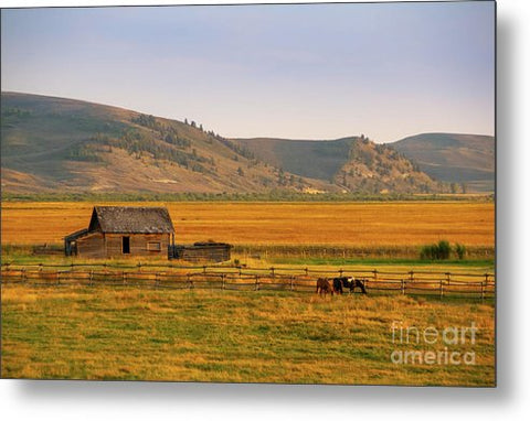 Keogh Ranch Landscape - Daniel Wyoming - Metal Print