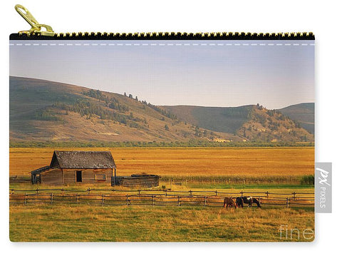 Keogh Ranch Landscape - Daniel Wyoming - Carry-All Pouch