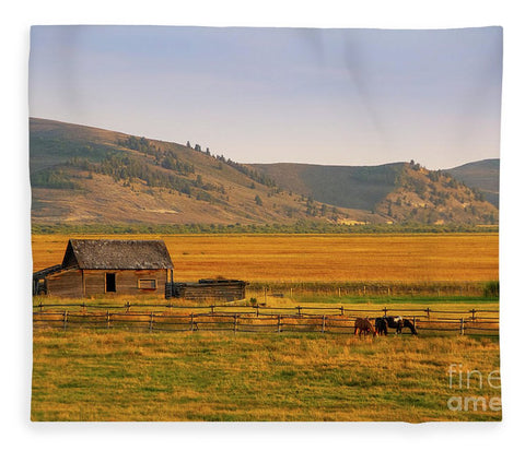 Keogh Ranch Landscape - Daniel Wyoming - Blanket