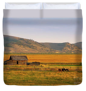 Keogh Ranch Landscape - Daniel Wyoming - Duvet Cover