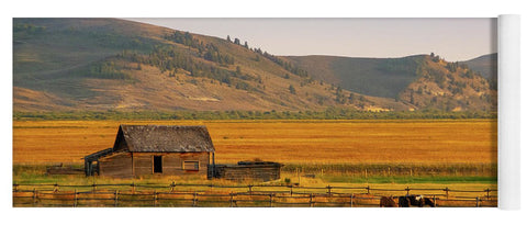 Keogh Ranch Landscape - Daniel Wyoming - Yoga Mat