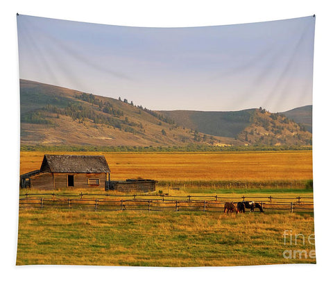 Keogh Ranch Landscape - Daniel Wyoming - Tapestry