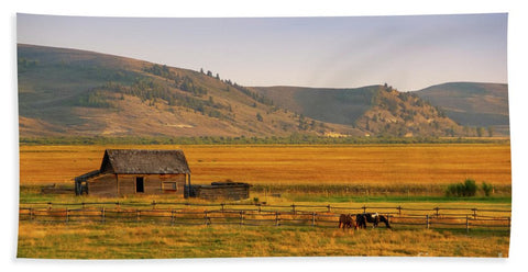 Keogh Ranch Landscape - Daniel Wyoming - Bath Towel