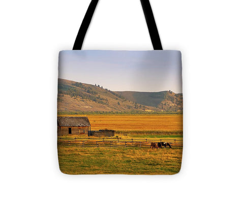 Keogh Ranch Landscape - Daniel Wyoming - Tote Bag