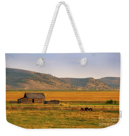 Keogh Ranch Landscape - Daniel Wyoming - Weekender Tote Bag