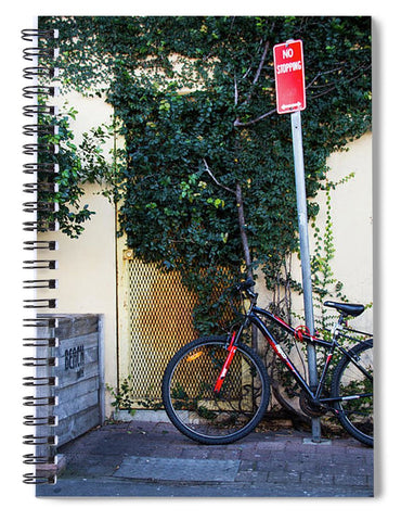 Parked Bicycles in Byron Bay Queensland  - Spiral Notebook
