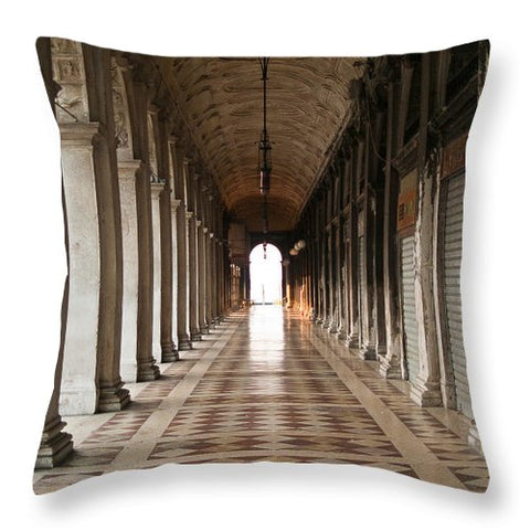 St Marks Square Market Venice Italy - Throw Pillow