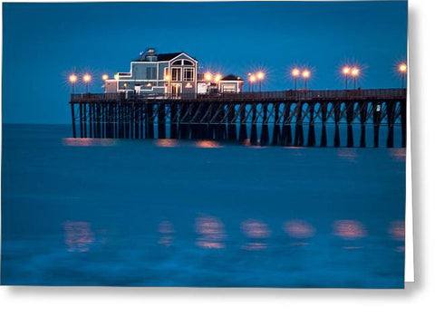 USA-0013-Oceanside Pier Just Before Sunrise - Greeting Card