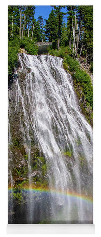Waterfall at Mt. Rainier - Yoga Mat