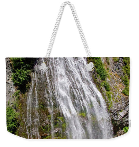 Waterfall at Mt. Rainier - Weekender Tote Bag