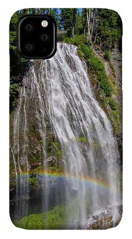 Waterfall at Mt. Rainier - Phone Case