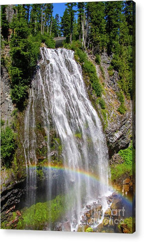 Waterfall at Mt. Rainier - Acrylic Print