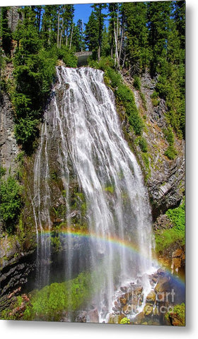 Waterfall at Mt. Rainier - Metal Print