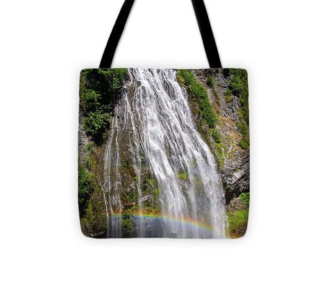Waterfall at Mt. Rainier - Tote Bag