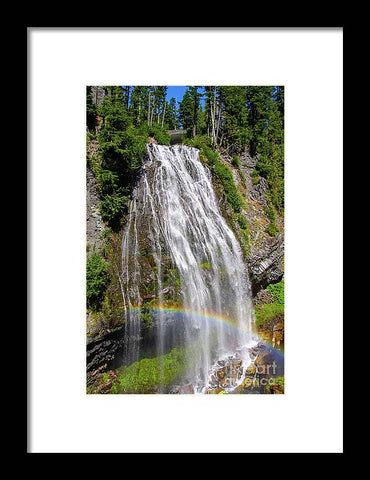 Waterfall at Mt. Rainier - Framed Print