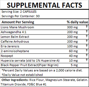 Mental Stack - Cognitive Enhancement Supplement - Fitness Stacks