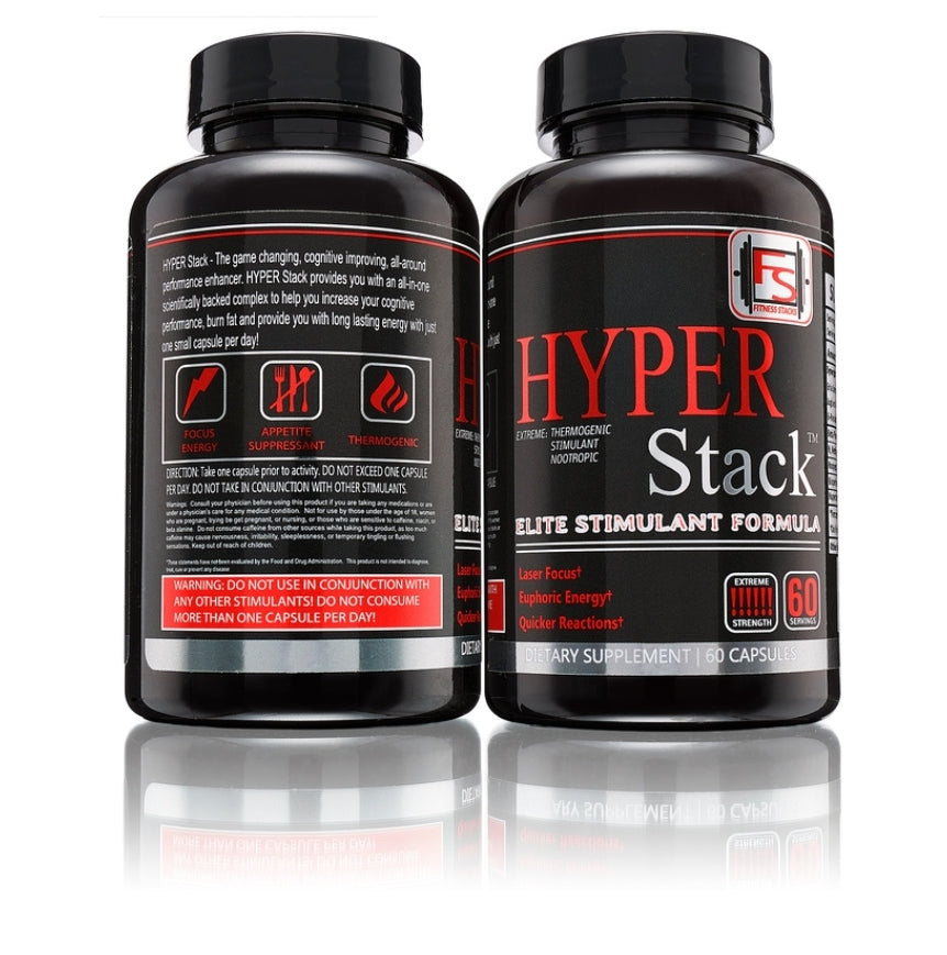 Hyper Stack Thermogenic Stimulant Nootropic Pill Fitness Stacks