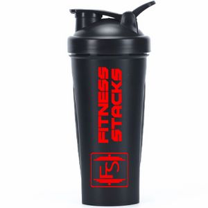 Fitness Stack Shaker Bottle, 28-Ounce, Black