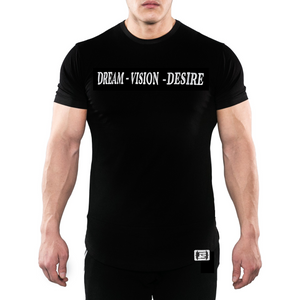 Dream Vision Desire - Drop Tee - Fitted - Fitness Stacks