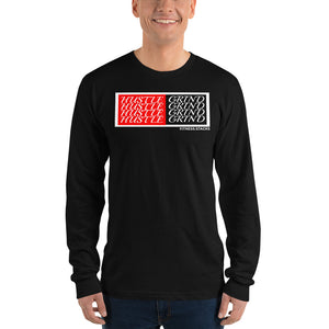 Hustle Grind Long sleeve t-shirt - Fitness Stacks