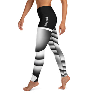 Parametric Curves Yoga Leggings - Fitness Stacks