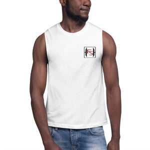 Signature Embroidered Logo Muscle Shirt