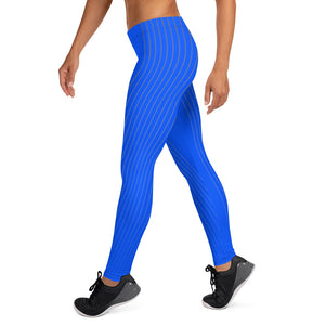 Blue Stripe Leggings - Fitness Stacks