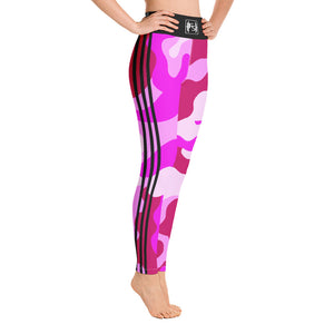 Stripes Pink Camo Yoga Leggings
