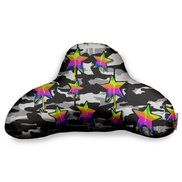 BW CAMO RAINBOW STAR BF PILLOW