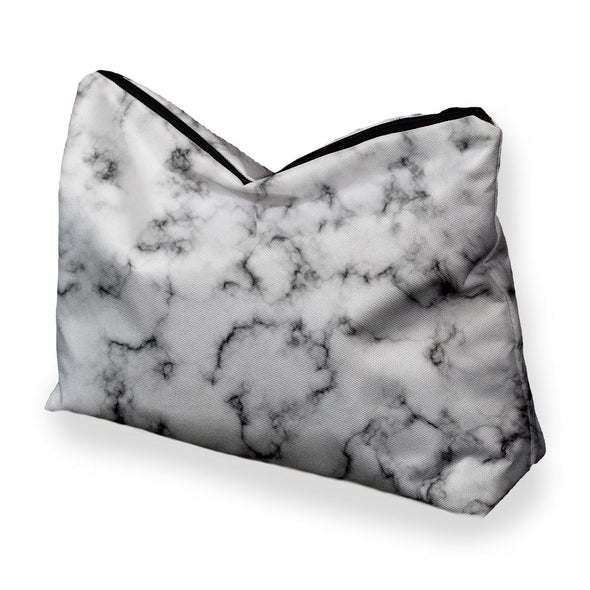 BLACK MARBLE COSMETIC BAG