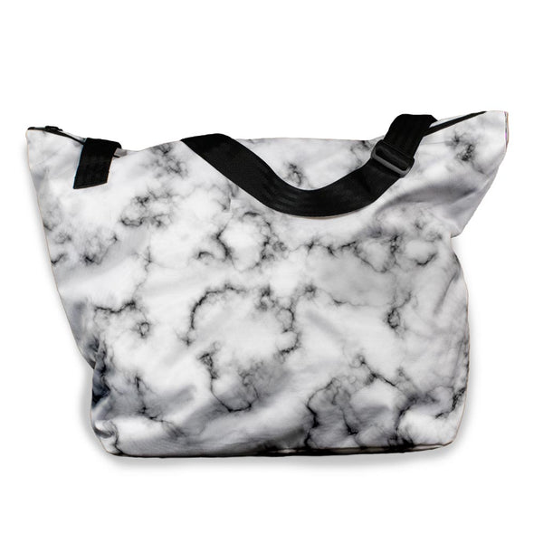 BLACK MARBLE VACAY TOTE